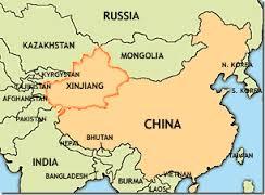 mappa Xinjang