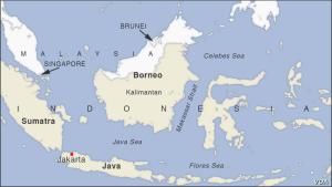 regione Boprneo map